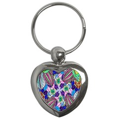 Wallpaper Created From Coloring Book Key Chains (heart)  by Amaryn4rt