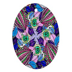 Wallpaper Created From Coloring Book Oval Ornament (two Sides) by Amaryn4rt