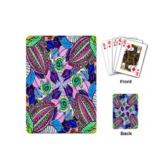 Wallpaper Created From Coloring Book Playing Cards (mini)  by Amaryn4rt