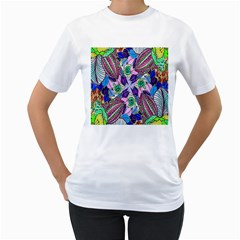 Wallpaper Created From Coloring Book Women s T Shirt (white)  by Amaryn4rt