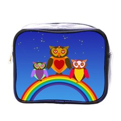 Owls Rainbow Animals Birds Nature Mini Toiletries Bags