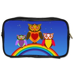 Owls Rainbow Animals Birds Nature Toiletries Bags 2 Side by Amaryn4rt