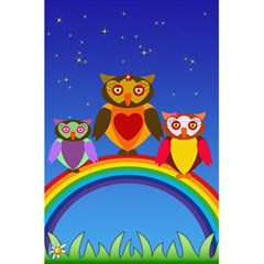 Owls Rainbow Animals Birds Nature 5 5  X 8 5  Notebooks by Amaryn4rt