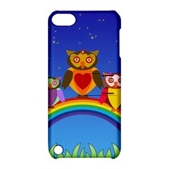 Owls Rainbow Animals Birds Nature Apple Ipod Touch 5 Hardshell Case With Stand by Amaryn4rt