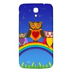 Owls Rainbow Animals Birds Nature Samsung Galaxy Mega I9200 Hardshell Back Case by Amaryn4rt