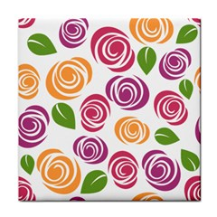 Colorful Seamless Floral Flowers Pattern Wallpaper Background Face Towel by Amaryn4rt