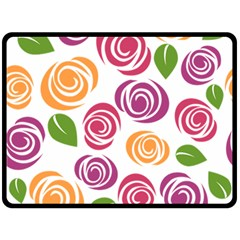 Colorful Seamless Floral Flowers Pattern Wallpaper Background Fleece Blanket (large)  by Amaryn4rt