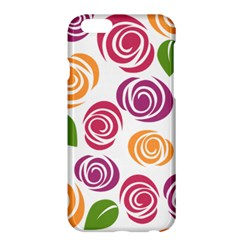 Colorful Seamless Floral Flowers Pattern Wallpaper Background Apple Iphone 6 Plus/6s Plus Hardshell Case by Amaryn4rt