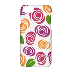 Colorful Seamless Floral Flowers Pattern Wallpaper Background Apple Iphone 7 Hardshell Case by Amaryn4rt