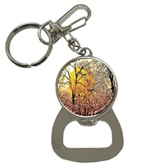 Summer Sun Set Fractal Forest Background Button Necklaces by Amaryn4rt