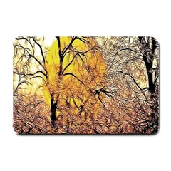 Summer Sun Set Fractal Forest Background Small Doormat