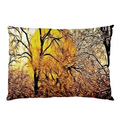 Summer Sun Set Fractal Forest Background Pillow Case by Amaryn4rt