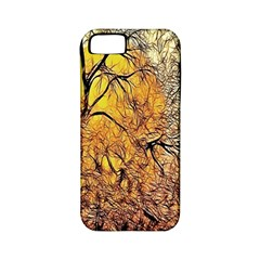 Summer Sun Set Fractal Forest Background Apple Iphone 5 Classic Hardshell Case (pc+silicone)