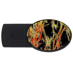 Artistic Effect Fractal Forest Background Usb Flash Drive Oval (4 Gb) by Amaryn4rt