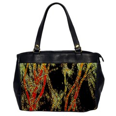 Artistic Effect Fractal Forest Background Office Handbags by Amaryn4rt