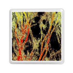 Artistic Effect Fractal Forest Background Memory Card Reader (square)  by Amaryn4rt