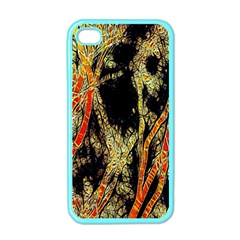 Artistic Effect Fractal Forest Background Apple Iphone 4 Case (color) by Amaryn4rt