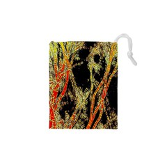 Artistic Effect Fractal Forest Background Drawstring Pouches (xs)  by Amaryn4rt