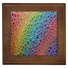 Bubbles Rainbow Colourful Colors Framed Tiles by Amaryn4rt