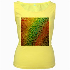 Bubbles Rainbow Colourful Colors Women s Yellow Tank Top by Amaryn4rt