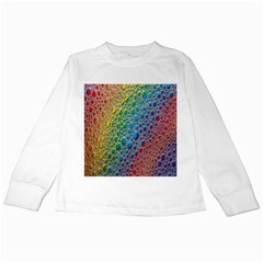 Bubbles Rainbow Colourful Colors Kids Long Sleeve T Shirts by Amaryn4rt