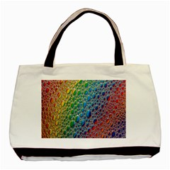 Bubbles Rainbow Colourful Colors Basic Tote Bag by Amaryn4rt