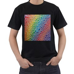 Bubbles Rainbow Colourful Colors Men s T Shirt (black) by Amaryn4rt