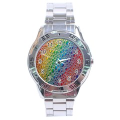 Bubbles Rainbow Colourful Colors Stainless Steel Analogue Watch by Amaryn4rt