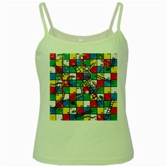 Snakes And Ladders Green Spaghetti Tank by Amaryn4rt