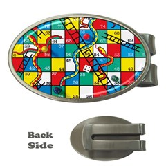 Snakes And Ladders Money Clips (oval)