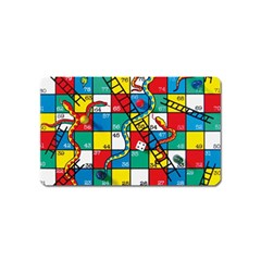 Snakes And Ladders Magnet (name Card) by Amaryn4rt