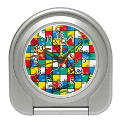 Snakes And Ladders Travel Alarm Clocks by Amaryn4rt