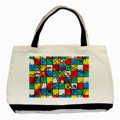 Snakes And Ladders Basic Tote Bag (two Sides) by Amaryn4rt