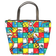 Snakes And Ladders Bucket Bags by Amaryn4rt