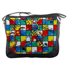 Snakes And Ladders Messenger Bags by Amaryn4rt
