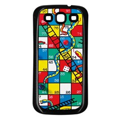 Snakes And Ladders Samsung Galaxy S3 Back Case (black) by Amaryn4rt