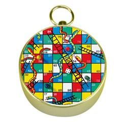 Snakes And Ladders Gold Compasses by Amaryn4rt