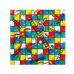 Snakes And Ladders Small Satin Scarf (square) by Amaryn4rt
