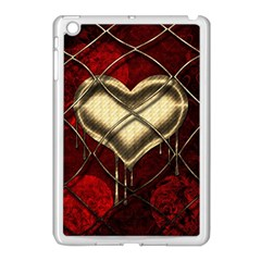 Love Hearth Background Scrapbooking Paper Apple Ipad Mini Case (white) by Amaryn4rt