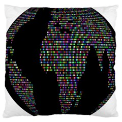 World Earth Planet Globe Map Large Cushion Case (two Sides) by Amaryn4rt