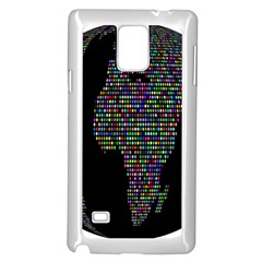 World Earth Planet Globe Map Samsung Galaxy Note 4 Case (white)