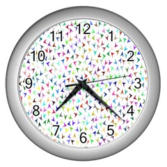 Pointer Direction Arrows Navigation Wall Clocks (silver)  by Amaryn4rt