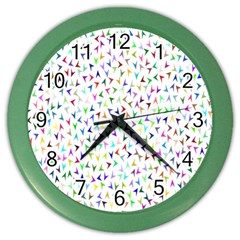 Pointer Direction Arrows Navigation Color Wall Clocks by Amaryn4rt