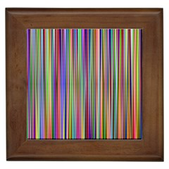 Striped Stripes Abstract Geometric Framed Tiles