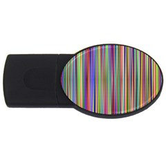 Striped Stripes Abstract Geometric Usb Flash Drive Oval (2 Gb) by Amaryn4rt