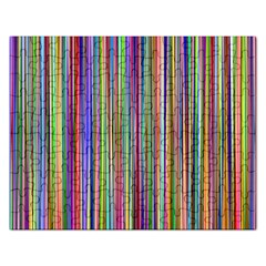 Striped Stripes Abstract Geometric Rectangular Jigsaw Puzzl by Amaryn4rt