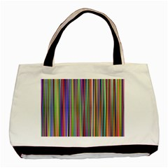 Striped Stripes Abstract Geometric Basic Tote Bag by Amaryn4rt