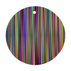 Striped Stripes Abstract Geometric Round Ornament (two Sides)