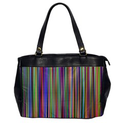 Striped Stripes Abstract Geometric Office Handbags by Amaryn4rt