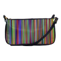 Striped Stripes Abstract Geometric Shoulder Clutch Bags by Amaryn4rt